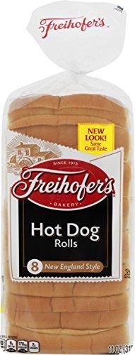 Freihofer, New England Hot Dog Rolls, 8 ct, 11 oz (Top Split Hot Dog Rolls compare prices)
