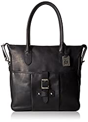 FRYE Parker Tote Shoulder Bag, Black, One Size