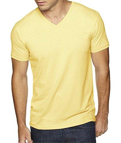 next-level-apparel-6440-mens-premium-fitted-sueded-v-neck-tee-banana-cream-medium