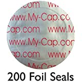 200 Foil Seals to Reuse Your Keurig Rivo Packs and Lavazza Capsule Pods, Lavazza Blue, A Modo Mio