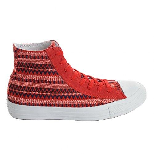 Converse Chuck Taylor All Star Femme Plus Star Hi - Sneaker, Varsity Red Twilight Blue Burgundy, taglia 44