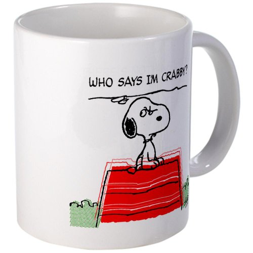Cafepress Crabby Snoopy Mug - S White