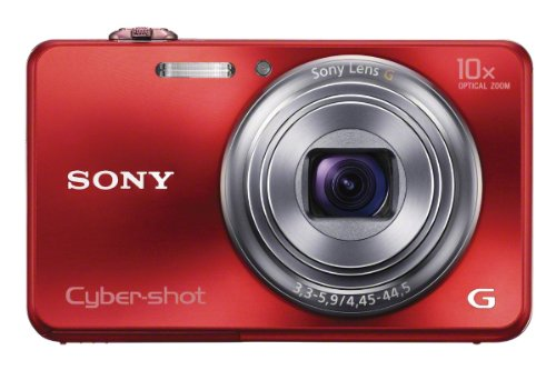 Sony Cyber-shot DSC-WX150 18.2 MP Exmor R CMOS Digital Camera with 10x Optical Zoom and 3.0-inch LCD (Red) (2012 Model)