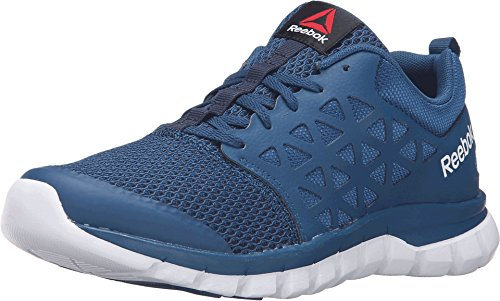 Reebok Women's Sublite Xt Cushion 2.0 WS Mt Running Shoe, Noble Blue/White/Collegiate Navy, 8.5 M US (Reebok Running Shoes Women compare prices)