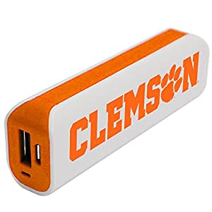 NCAA Clemson Tigers APU 1800GS USB Mobile Charger, White