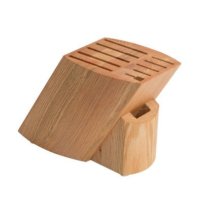 Stratus Culinary Solid Oak Knife Block, Brown