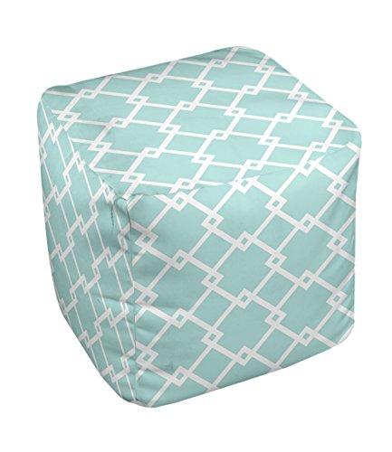 E by design FG-N10-Ocean_White-18 Geometric Pouf