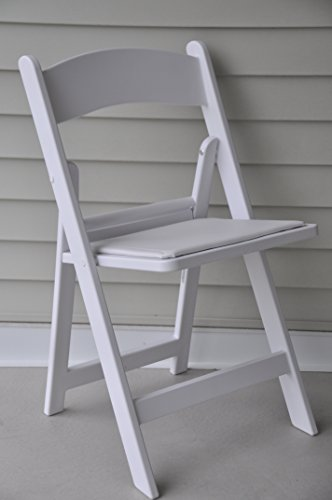 White Resin Folding Chair 9037