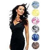 Saress ラップドレス (ショート), スタイリッシュな様々な色/模様からお選びください (ロングドレスもあります。)