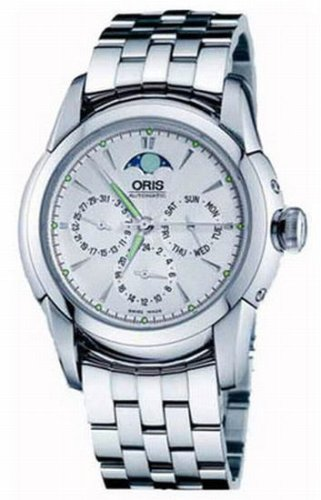 Oris Men's 581 7546 4051MB Artelier Complication White Dial Watch