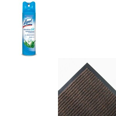 KITCWNNR0046BRRAC76938EA - Value Kit - Crown NR46 BRO Needle-Rib Indoor Wiper/Scraper Mat 4' x 6', Brown (CWNNR0046BR) and Neutra Air Fresh Scent (RAC76938EA)