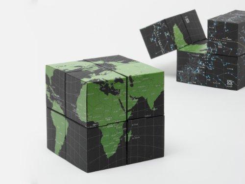 8つの立方体[アース & スカイ]回転式 地球儀
