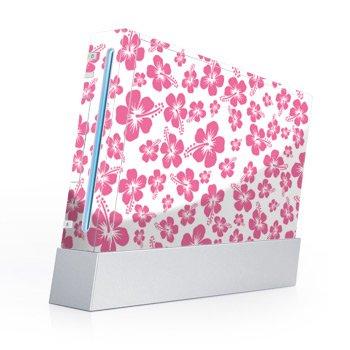 Nintendo Wii Skin + nunchuck skin Skin-Pink Hibiscus