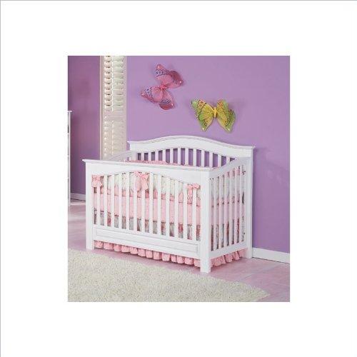Imagen de Atlántico Muebles Windsor 4-en-1 Cuna Convertible bebé en blanco
