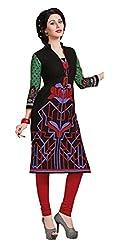 Pruthu Cotton Ladies Kurti, Top Fabric Unstitched (pk-005_Multi-Color)