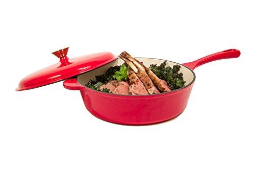 Heuck 33202 Porcelain Enamel Cast Iron Chicken Fryer, 10.5-Inch, Red (Cast Iron Cookware Porcelain compare prices)
