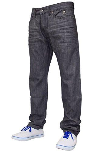 hombre-nuevo-crosshatch-vaqueros-denim-estrechado-elastico-ajustado-pantalones-pitillos-algodon-gris
