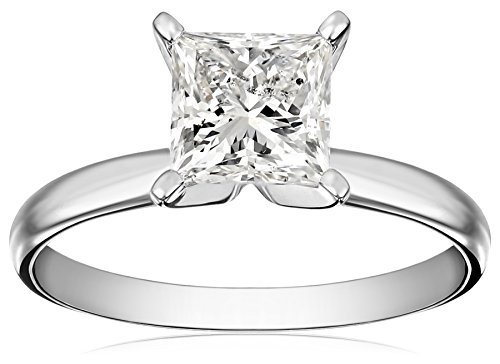 Where Can I Buy IGI Certified 18k White Gold Classic Princess-Cut Diamond Engagement Ring (1.5 cttw, H-I Color, SI1-SI2 Clarity), Size 9