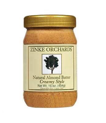 Zinke Orchards Creamy Almond Butter(3Pack) 16oz Jars by Zinke Orchards Inc.
