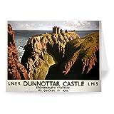 Dunnottar Castle Stonehaven Station LNER LMS - Greeting Card (Pack of 2)