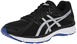 ASICS Men's Gel Excite 3 Running Shoe, Black/Silver/Blue, 10.5 M US
