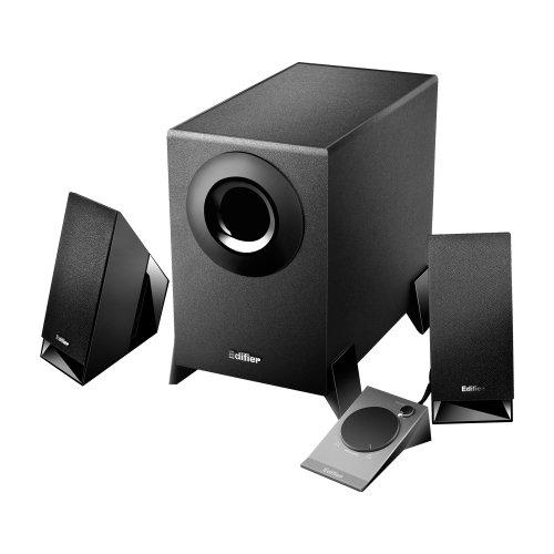 Edifier M1360, 2.1-Soundsystem mit 2x 2W Satelliten und 1x 4,5W Subwoofer, inklusive Fernbedienung, schwarz