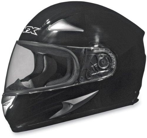 Afx Solid Adult Fx-90 Street Motorcycle Helmet - Black / Medium