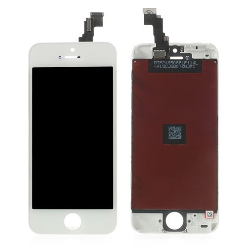 White for iPhone 5c LCD Assembly with Touch Screen + Digitizer Frame + Front Camera Holder Coupon 2016