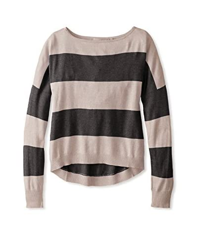 Cashmere Addiction Women's Striped Boatneck Sweater