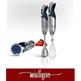 9080 MiTutto Hand Blender 450W w Multi Attachments %2D Stainless Steel