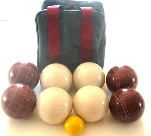 Premium Quality EPCO Tournament Set, Red and White Bocce Balls - 110mm. Bag i...