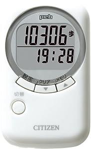 シチズン(CITIZEN) デジタル歩数計 peb ホワイト TW550-WH