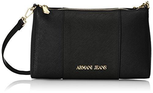 Armani Jeans922544CC857 - Borsa a tracolla Donna , Nero (Schwarz (NERO 00020)), 15x6x24 cm (B x H x T)