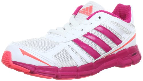 Adidas Performance adifast K Running Shoes Unisex-Child White Weià (RUNNING WHITE FTW / BLAST PINK F13 / RED ZEST S13) Size: 40