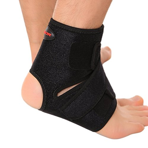 Liomor Ankle Support Breathable Ankle Brace for Running Basketball Ankle Sprain Men Women - One Size, Black