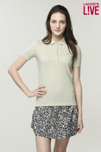 L!Ve Short Sleeve Lurex Pique Polo