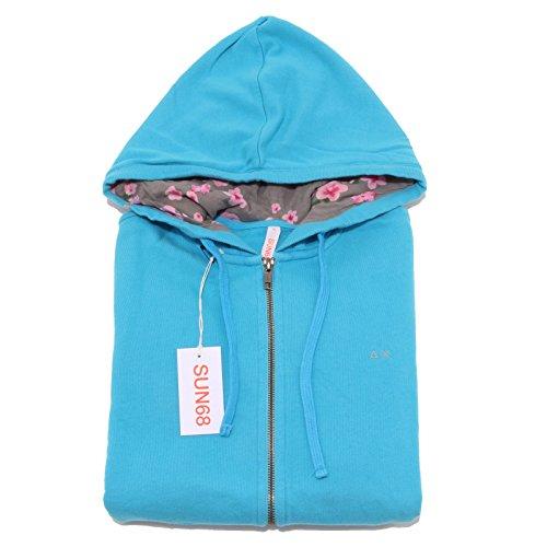 7634P felpa garzata turchese SUN68 donna sweatshirt woman [M]