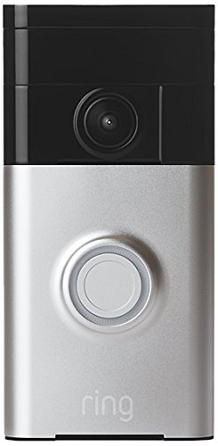 Ring Video Doorbell Wi-Fi Enabled Smartphone Compatible Chime Bundle (Satin Nickel) includes Ring Wi-Fi Enabled Video Doorbell and Ring Wi-Fi Enabled Chime