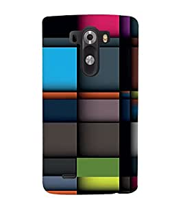 Vizagbeats Colored checks Back Case Cover for LG G3::LG G3 D855