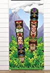 Fun Express Educational Products – Plastic Tiki Totem Pole Photo Door Banner Luau Party Decoration -…