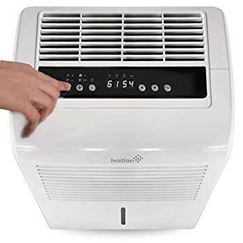 Ivation 30 Pint Energy Star Dehumidifier - Includes Programmable Humidistat, Hose Connector, Auto Shutoff / Restart, Timer, Casters & Washable Air Filter