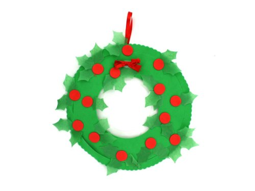 Tissue Paper Christmas Wreath Craft Kit - Case of 12