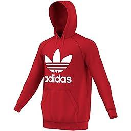 adidas Originals Men\'s Originals Trefoil Hoodie, Vivid Red, Large