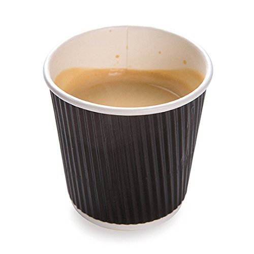 4 ounces Black Disposable Ripple Wall Coffee and Tea Cup 500 count box (4 Oz Coffee Cup Disposable compare prices)
