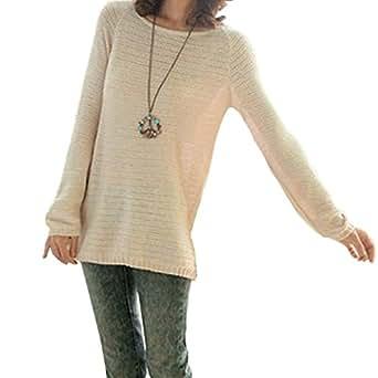Amazon.com: Chuangmei Womens Ladies Long Sleeve Knit Loose