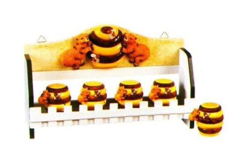 Http Spiceracksforkitchen Com Honey Bee 3 D Majolica Spice Rack Jars New