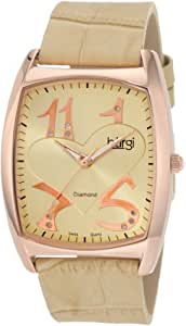 Burgi Women's BU36C 'Heart O' Diamonds' Swiss Quartz Diamond Classic Stainless Steel Watch