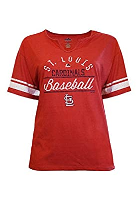 Majestic Women's St. Louis Cardinals V-Neck Tee