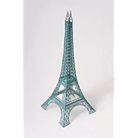12 inch Laser Cut Paper Eiffel Tower - Malachite Green