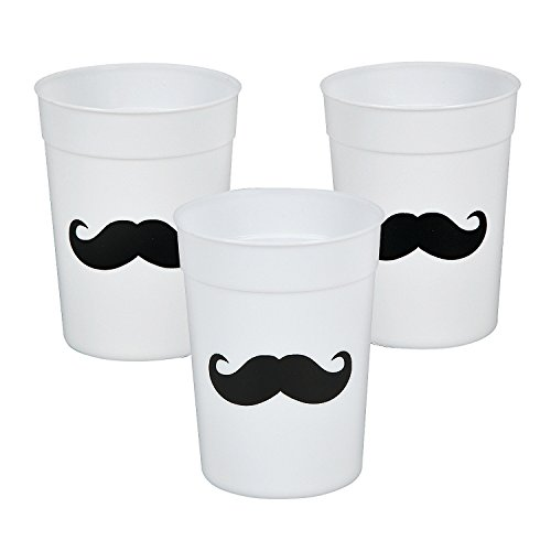 Fun Express  Mustache Cups Reusable Plastic Party Cups - 12 Pieces (Mustache Cup compare prices)
